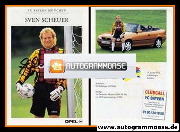 Autogramm Fussball   FC Bayern München   1995   Sven SCHEUER
