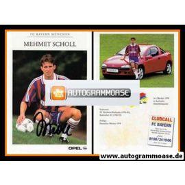 Autogramm Fussball   FC Bayern München   1995   Mehmet SCHOLL