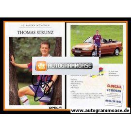 Autogramm Fussball   FC Bayern München   1995   Thomas STRUNZ