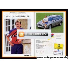 Autogramm Fussball | FC Bayern München | 1996 | Klaus AUGENTHALER