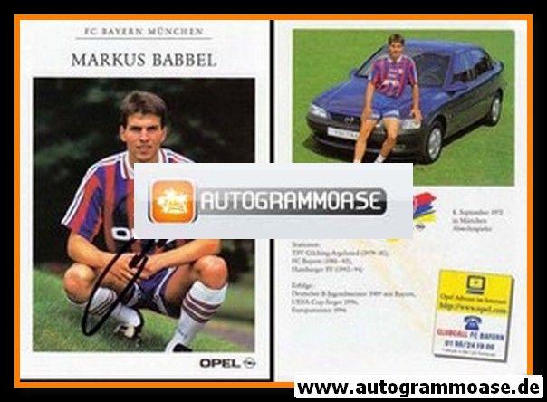 Autogramm Fussball   FC Bayern München   1996   Markus BABBEL