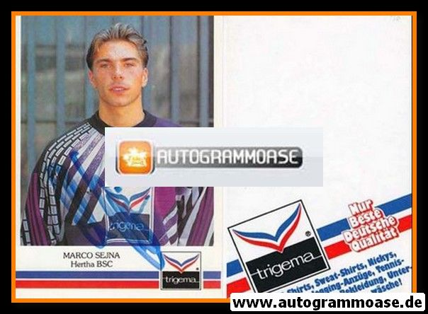 Autogramm Fussball | Hertha BSC Berlin | 1991 | Marco SEJNA