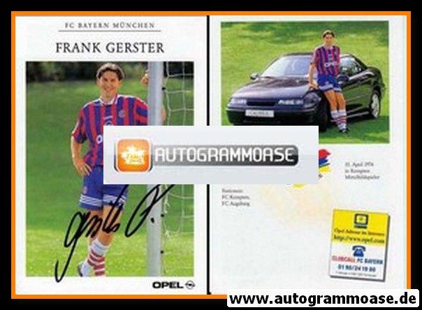 Autogramm Fussball | FC Bayern München | 1996 | Frank GERSTER