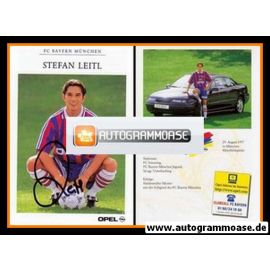 Autogramm Fussball | FC Bayern München | 1996 | Stefan LEITL
