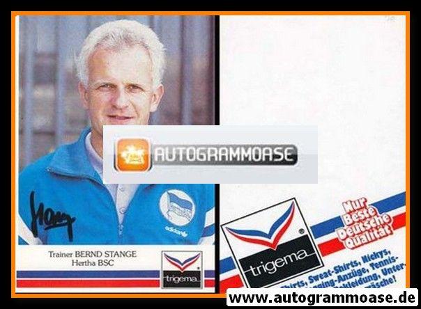 Autogramm Fussball | Hertha BSC Berlin | 1991 | Bernd STANGE