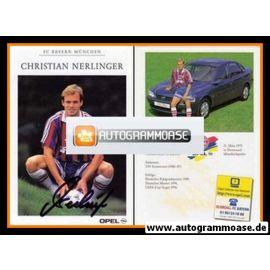 Autogramm Fussball | FC Bayern München | 1996 | Christian NERLINGER