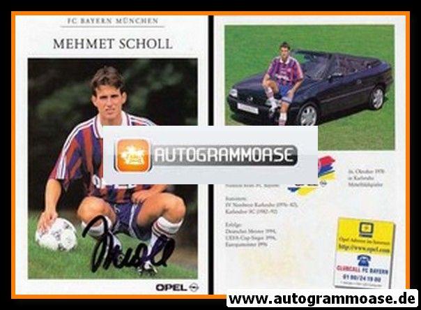 Autogramm Fussball | FC Bayern München | 1996 | Mehmet SCHOLL