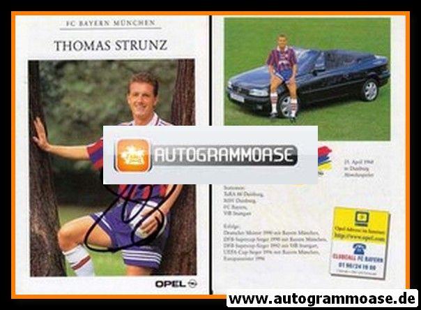 Autogramm Fussball | FC Bayern München | 1996 | Thomas STRUNZ