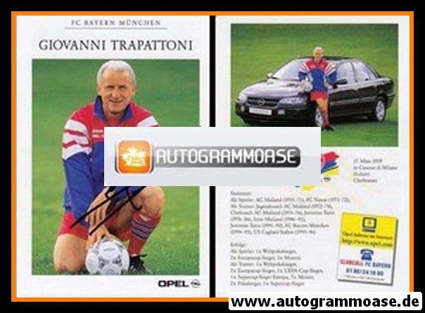 Autogramm Fussball   FC Bayern München   1996   Giovanni TRAPATTONI