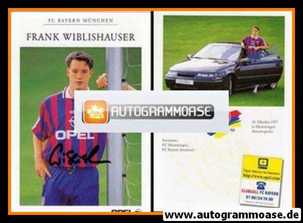 Autogramm Fussball | FC Bayern München | 1996 | Frank WIBLISHAUSER