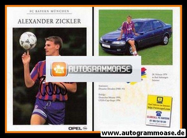 Autogramm Fussball   FC Bayern München   1996   Alexander ZICKLER