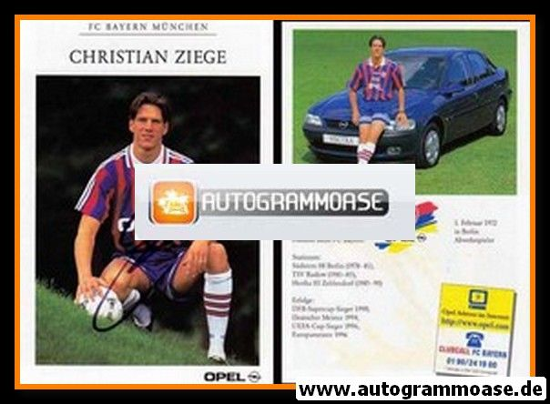 Autogramm Fussball   FC Bayern München   1996   Christian ZIEGE