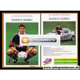 Autogramm Fussball | FC Bayern München | 1997 | Markus BABBEL