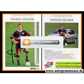 Autogramm Fussball | FC Bayern München | 1997 | Thomas HELMER