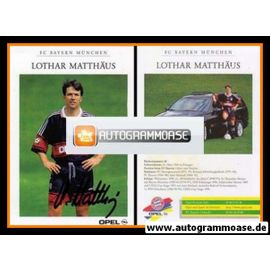 Autogramm Fussball   FC Bayern München   1997   Lothar MATTHÄUS