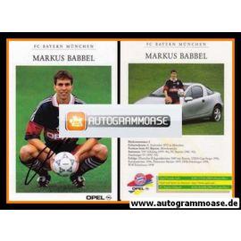 Autogramm Fussball | FC Bayern München | 1998 | Markus BABBEL