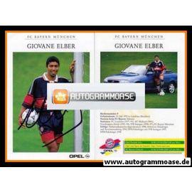 Autogramm Fussball   FC Bayern München   1998   Giovane ELBER