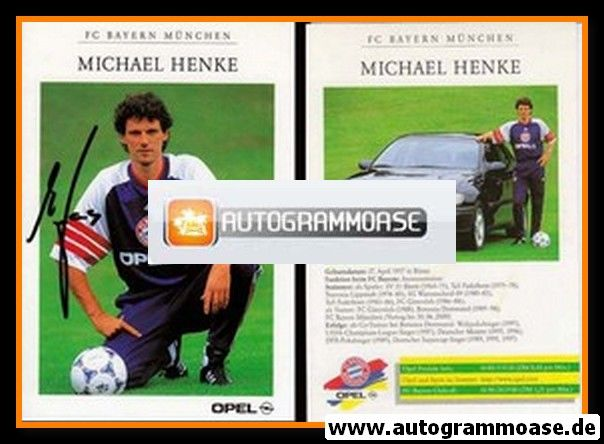 Autogramm Fussball | FC Bayern München | 1998 | Michael HENKE