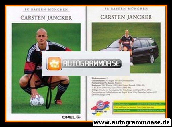 Autogramm Fussball | FC Bayern München | 1998 | Carsten JANCKER