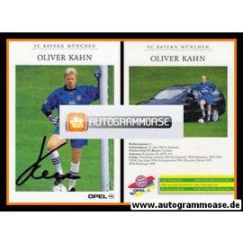 Autogramm Fussball | FC Bayern München | 1998 | Oliver KAHN