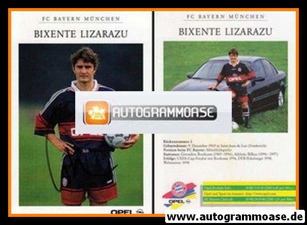 Autogramm Fussball | FC Bayern München | 1998 | Bixente LIZARAZU