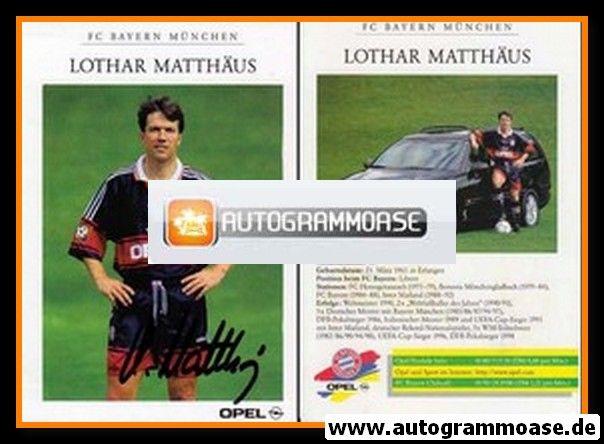 Autogramm Fussball | FC Bayern München | 1998 | Lothar MATTHÄUS