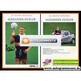 Autogramm Fussball | FC Bayern München | 1998 | Alexander ZICKLER