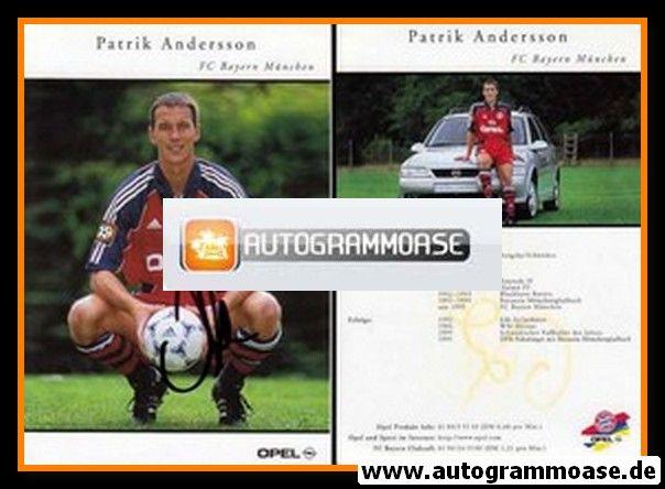 Autogramm Fussball   FC Bayern München   1999   Patrik ANDERSSON