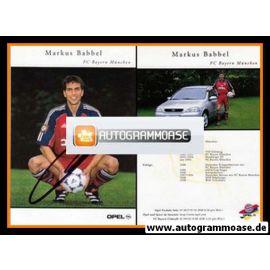 Autogramm Fussball | FC Bayern München | 1999 | Markus BABBEL