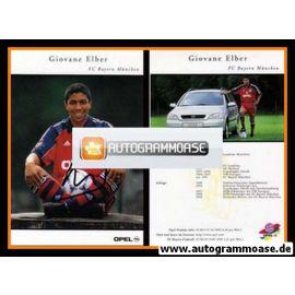 Autogramm Fussball | FC Bayern München | 1999 | Giovane ELBER