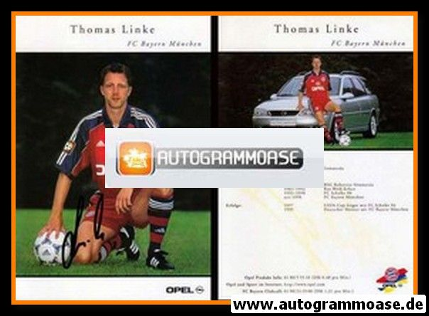 Autogramm Fussball | FC Bayern München | 1999 | Thomas LINKE