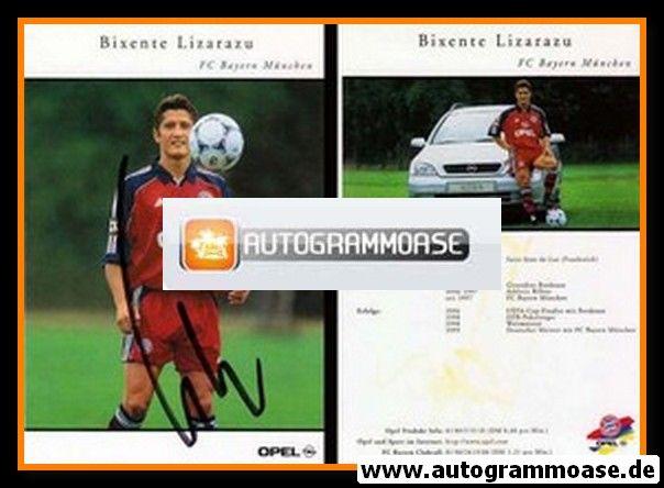 Autogramm Fussball | FC Bayern München | 1999 | Bixente LIZARAZU