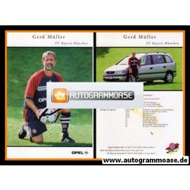 Autogramm Fussball   FC Bayern München   1999   Gerd MÜLLER