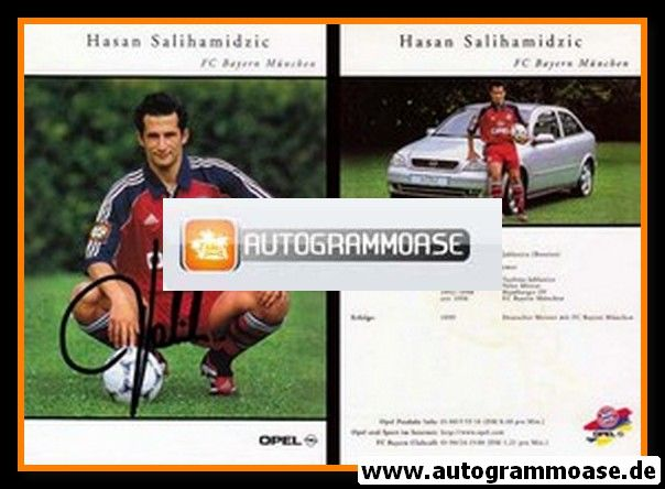 Autogramm Fussball | FC Bayern München | 1999 | Hasan SALIHAMIDZIC