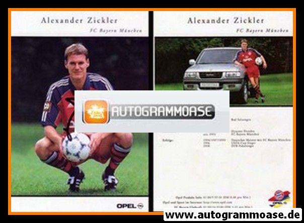 Autogramm Fussball | FC Bayern München | 1999 | Alexander ZICKLER