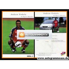 Autogramm Fussball   FC Bayern München   2000   Andrew SINKALA