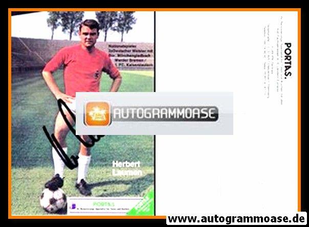 Autogramm Fussball | Borussia Mönchengladbach | 1980er | Herbert LAUMEN (Portas)