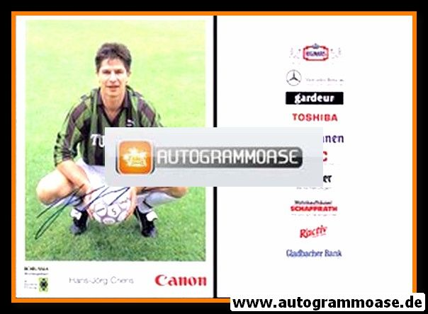 Autogramm Fussball   Borussia Mönchengladbach   1991   Hans-Jörg CRIENS