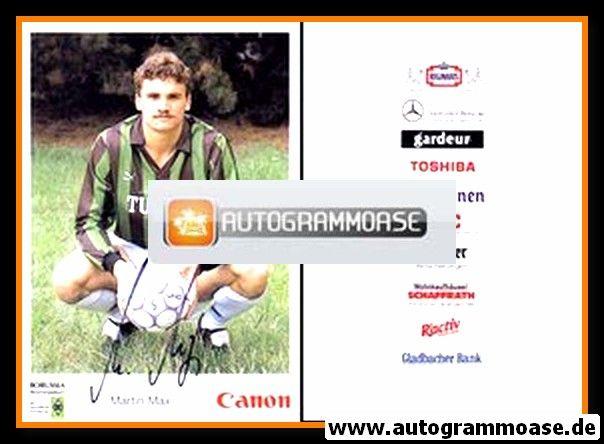 Autogramm Fussball | Borussia Mönchengladbach | 1991 | Martin MAX