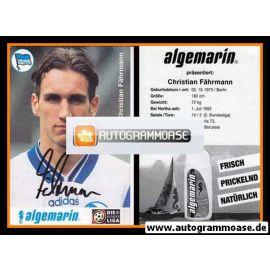 Autogramm Fussball | Hertha BSC Berlin | 1996 | Christian FÄHRMANN