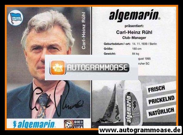 Autogramm Fussball | Hertha BSC Berlin | 1996 | Carl-Heinz RÜHL